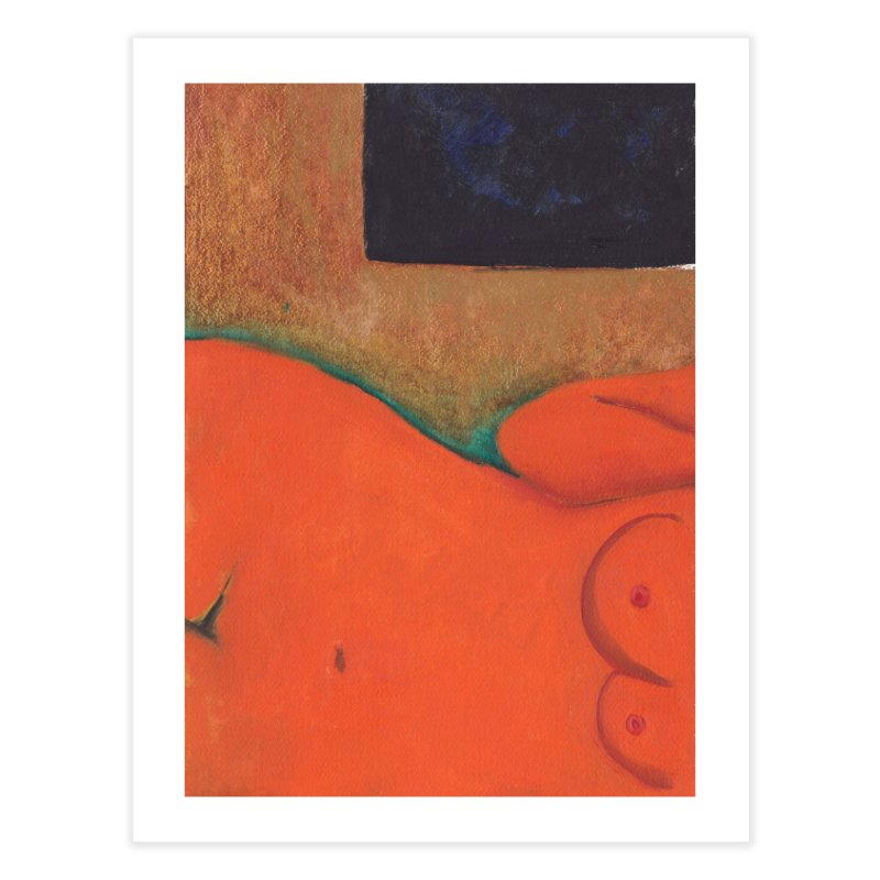Orange Reclining Nude on Sofa Panel C Home Fine Art Print by duocuspdesign Artist Shop