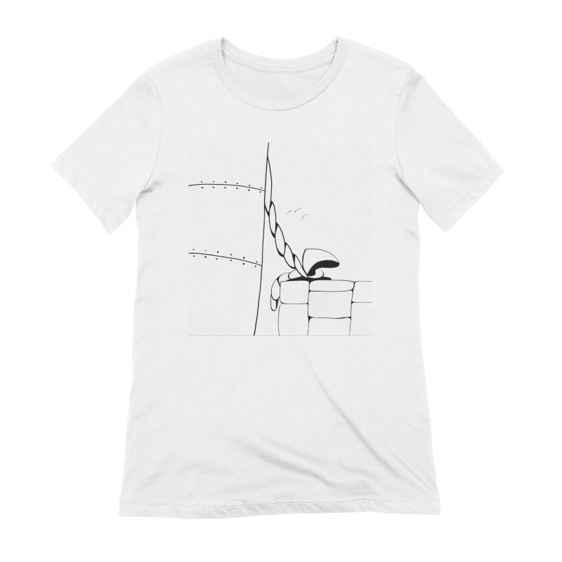 Tied to Dock/Nautical Drawing Women's Extra Soft T-Shirt by duocuspdesign Artist Shop