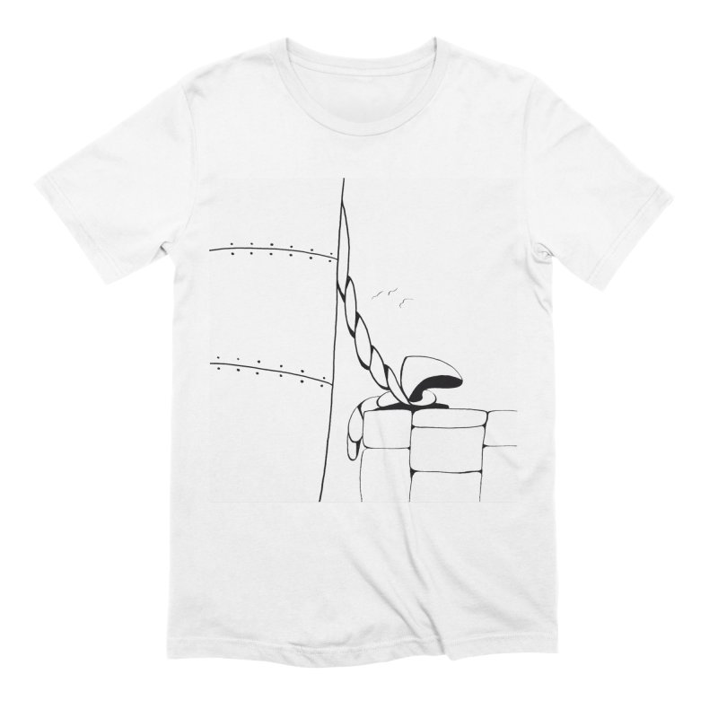 Tied to Dock/Nautical Drawing Men's Extra Soft T-Shirt by duocuspdesign Artist Shop