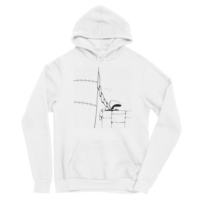 Tied to Dock/Nautical Drawing Men's Pullover Hoody by duocuspdesign Artist Shop
