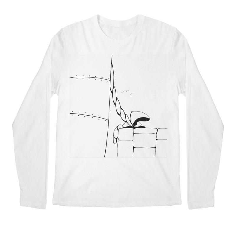Tied to Dock/Nautical Drawing Men's Longsleeve T-Shirt by duocuspdesign Artist Shop