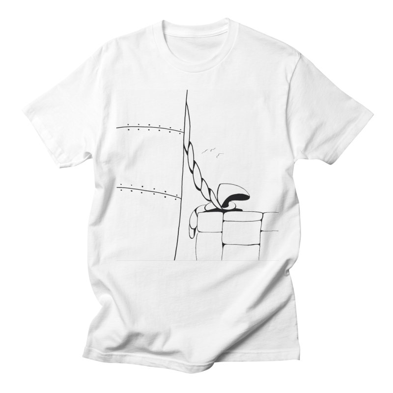 Tied to Dock/Nautical Drawing Women's Regular Unisex T-Shirt by duocuspdesign Artist Shop