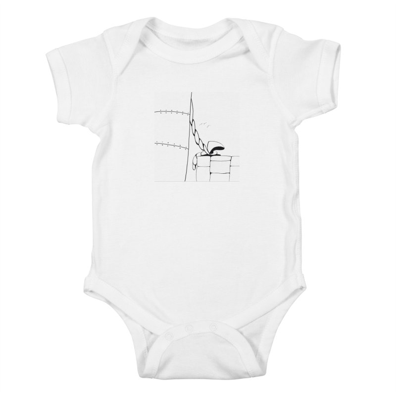 Tied to Dock/Nautical Drawing Kids Baby Bodysuit by duocuspdesign Artist Shop