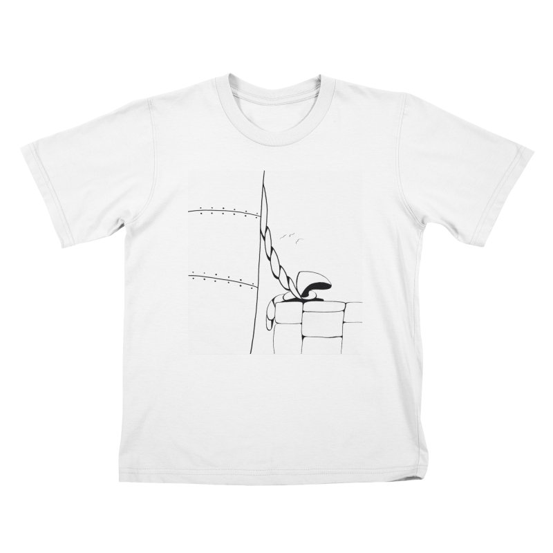 Tied to Dock/Nautical Drawing Kids T-Shirt by duocuspdesign Artist Shop