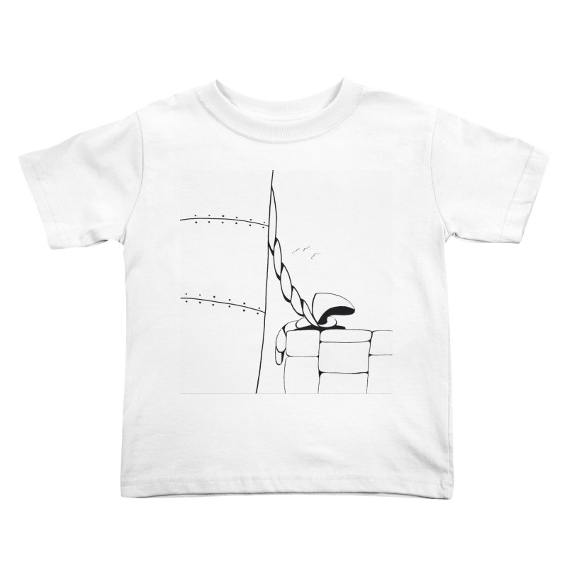 Tied to Dock/Nautical Drawing Kids Toddler T-Shirt by duocuspdesign Artist Shop