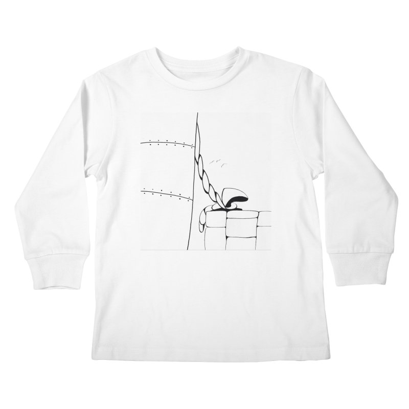 Tied to Dock/Nautical Drawing Kids Longsleeve T-Shirt by duocuspdesign Artist Shop