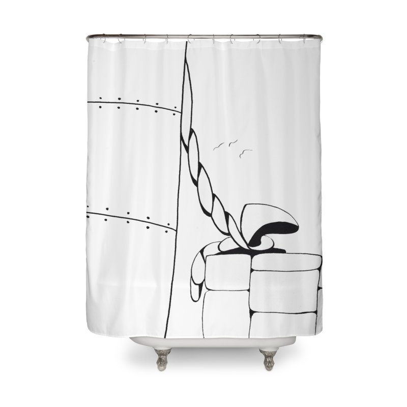Tied to Dock/Nautical Drawing Home Shower Curtain by duocuspdesign Artist Shop