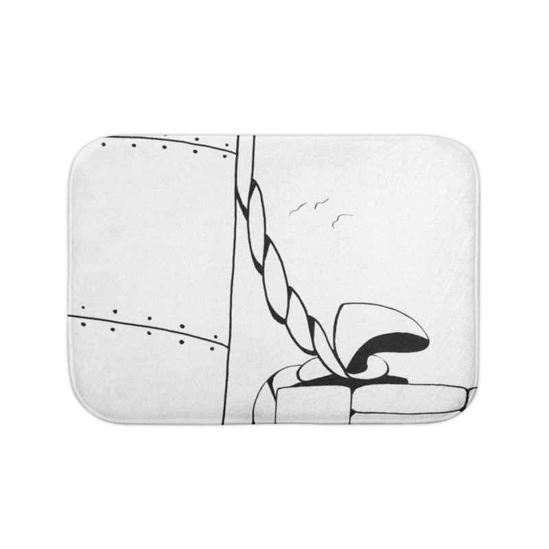 Tied to Dock/Nautical Drawing Home Bath Mat by duocuspdesign Artist Shop