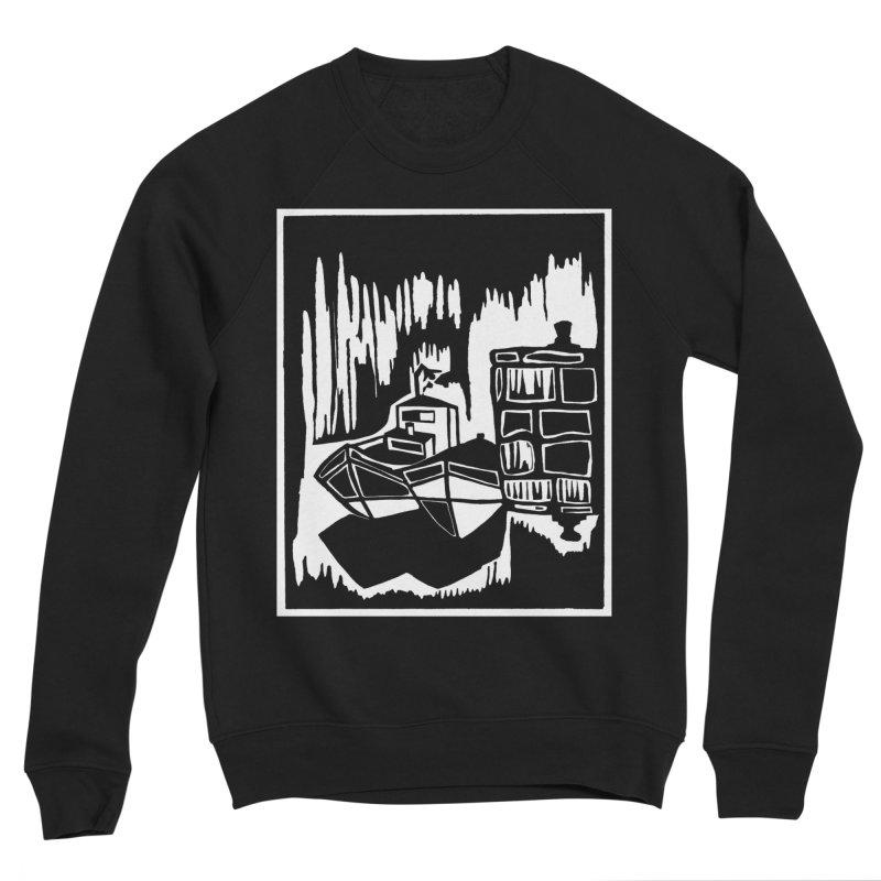 Moored/Nautical Woodcut Women's Sponge Fleece Sweatshirt by duocuspdesign Artist Shop