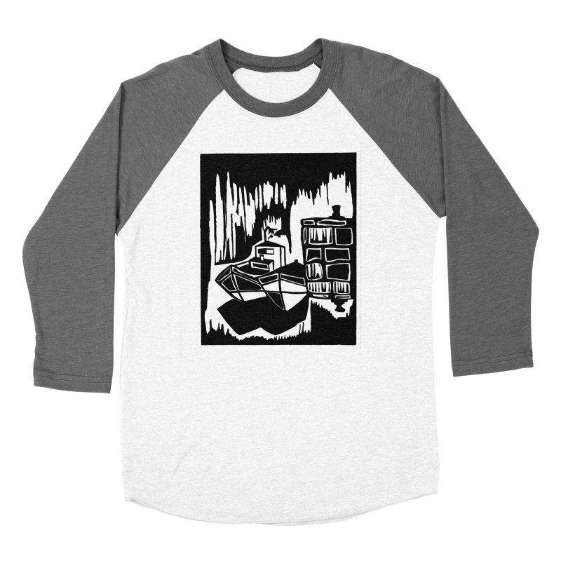 Moored/Nautical Woodcut Women's Longsleeve T-Shirt by duocuspdesign Artist Shop