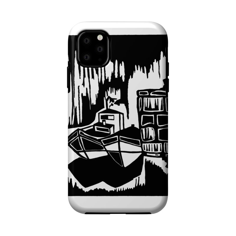 Moored/Nautical Woodcut Accessories Phone Case by duocuspdesign Artist Shop