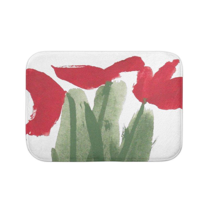 Flowers Home Bath Mat by duocuspdesign Artist Shop