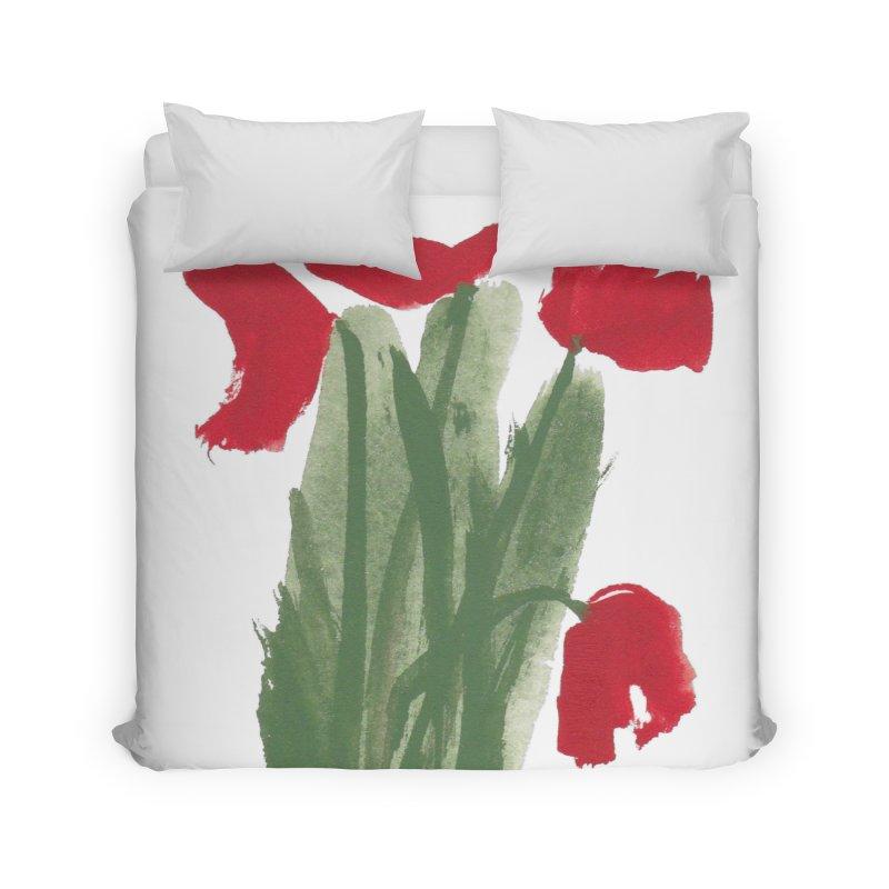 Flowers Home Duvet by duocuspdesign Artist Shop