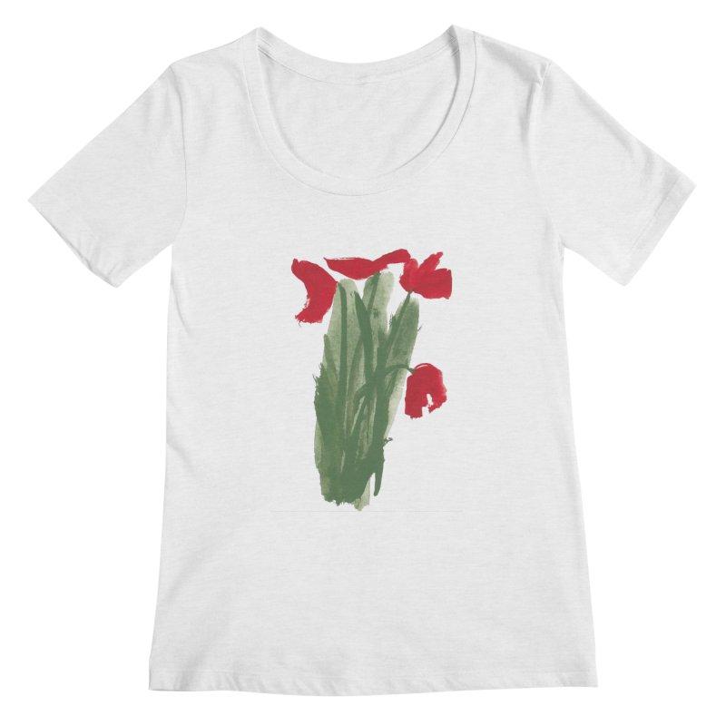 Flowers Women's Regular Scoop Neck by duocuspdesign Artist Shop
