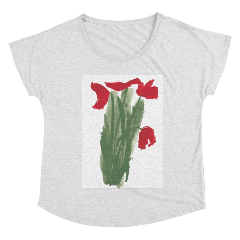 Flowers Women's Dolman Scoop Neck by duocuspdesign Artist Shop