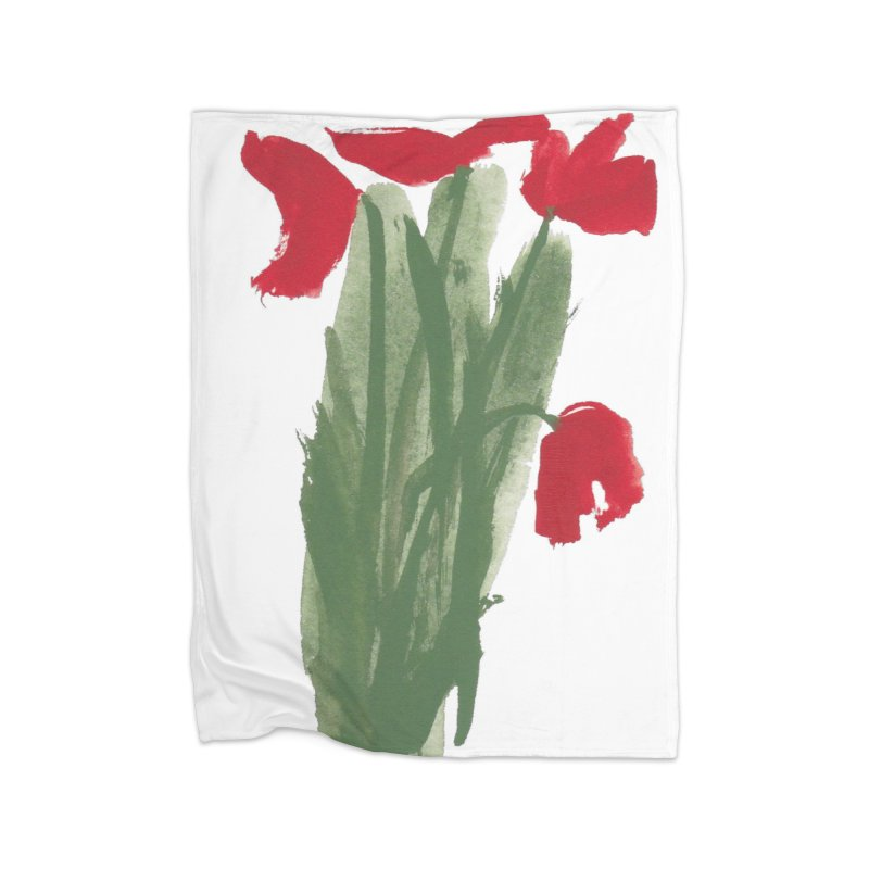 Flowers Home Fleece Blanket Blanket by duocuspdesign Artist Shop