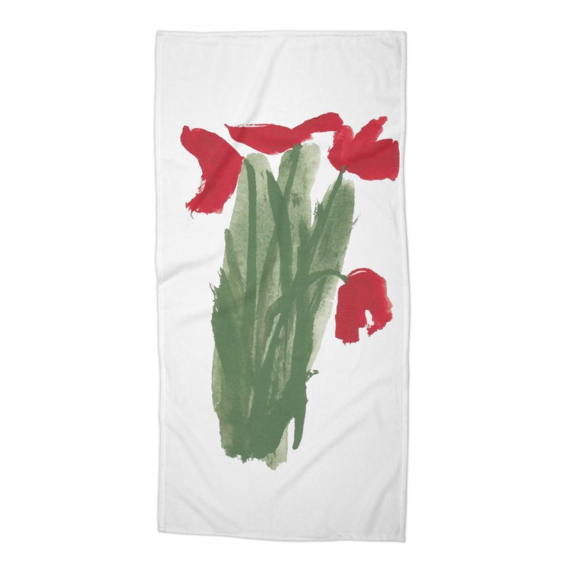 Flowers Accessories Beach Towel by duocuspdesign Artist Shop