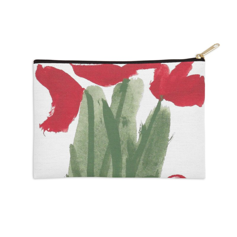 Flowers Accessories Zip Pouch by duocuspdesign Artist Shop