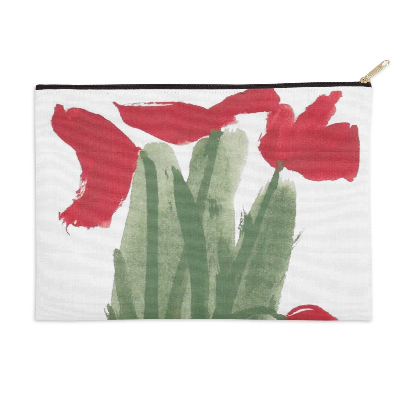 Flowers Accessories Zip Pouch by duocuspdesign Artist Shop