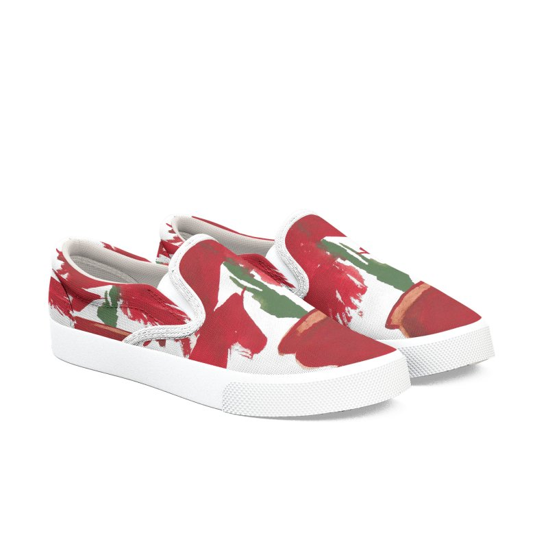 Flowers Women's Slip-On Shoes by duocuspdesign Artist Shop