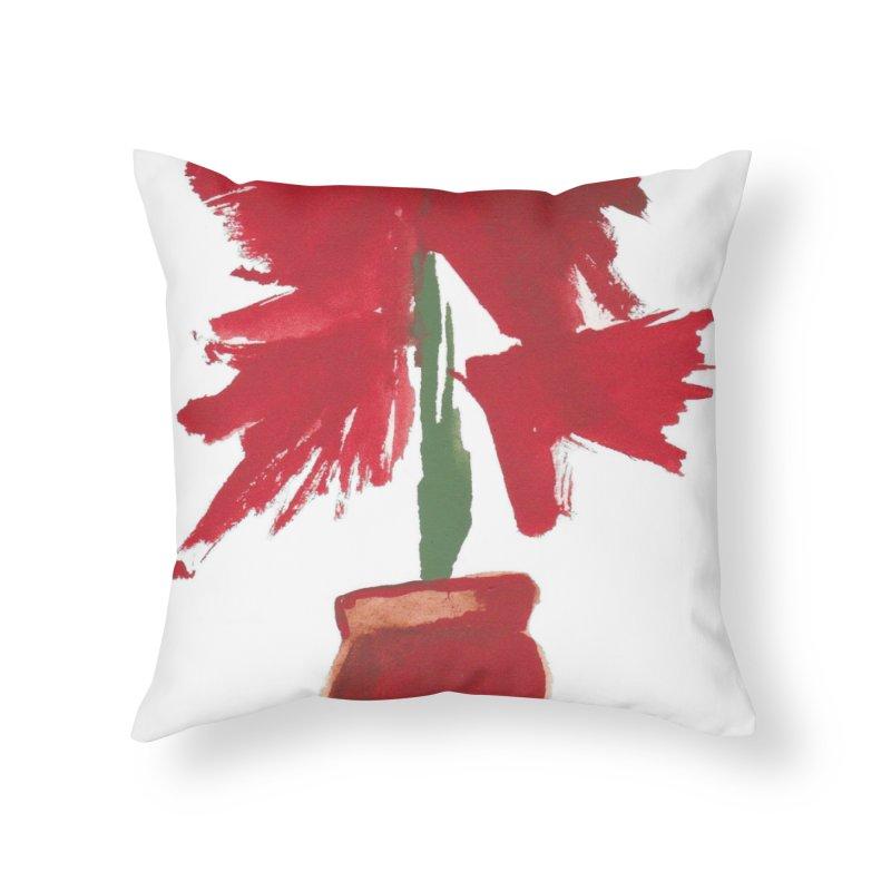 Flowers Home Throw Pillow by duocuspdesign Artist Shop