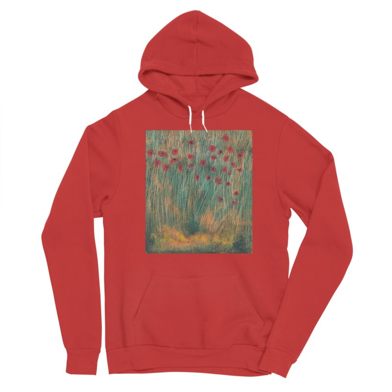Poppies in a Field on High Grass Women's Sponge Fleece Pullover Hoody by duocuspdesign Artist Shop