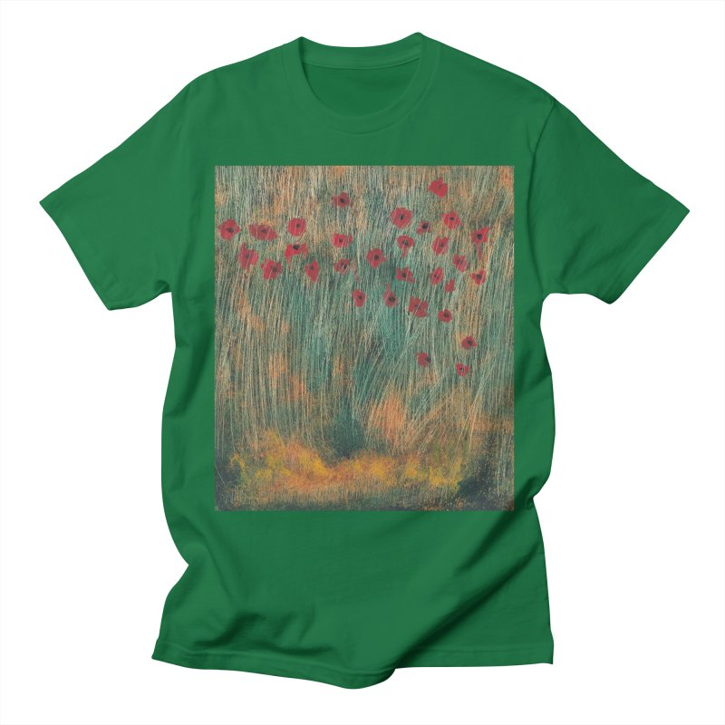 Poppies in a Field on High Grass Women's Regular Unisex T-Shirt by duocuspdesign Artist Shop