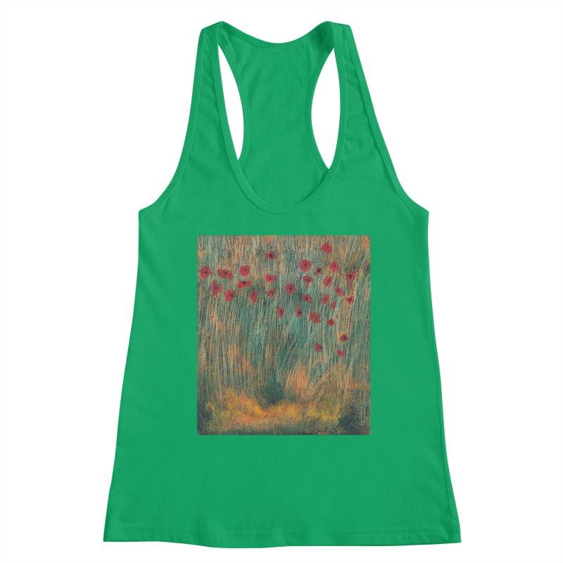 Poppies in a Field on High Grass Women's Tank by duocuspdesign Artist Shop