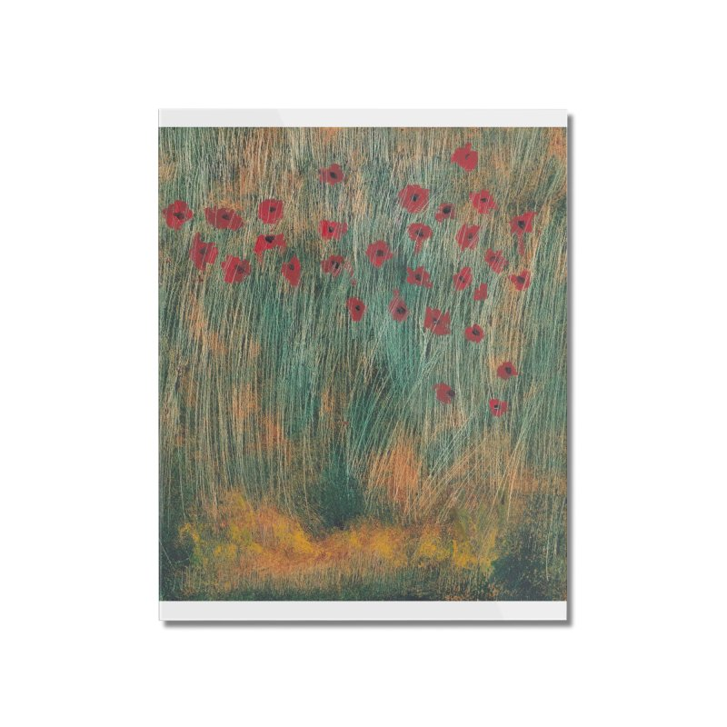 Poppies in a Field on High Grass Home Mounted Acrylic Print by duocuspdesign Artist Shop
