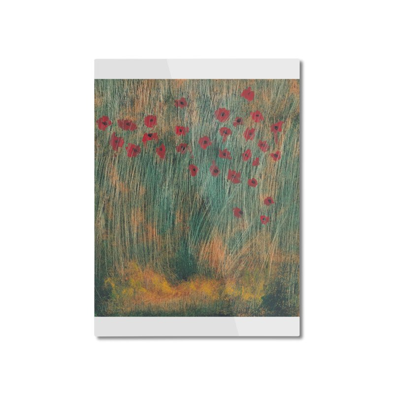 Poppies in a Field on High Grass Home Mounted Aluminum Print by duocuspdesign Artist Shop