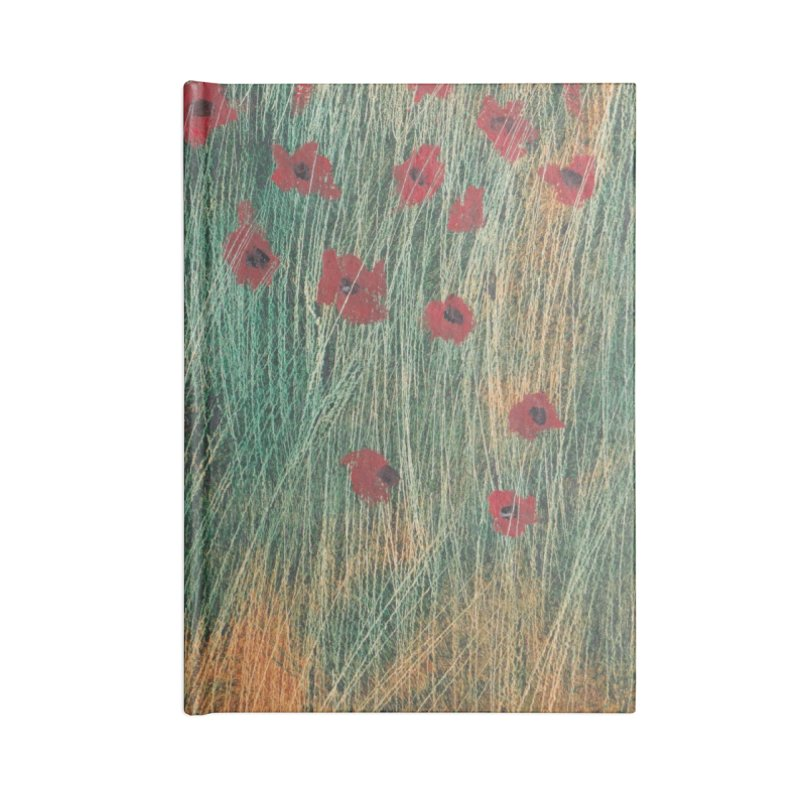 Poppies in a Field on High Grass Accessories Lined Journal Notebook by duocuspdesign Artist Shop