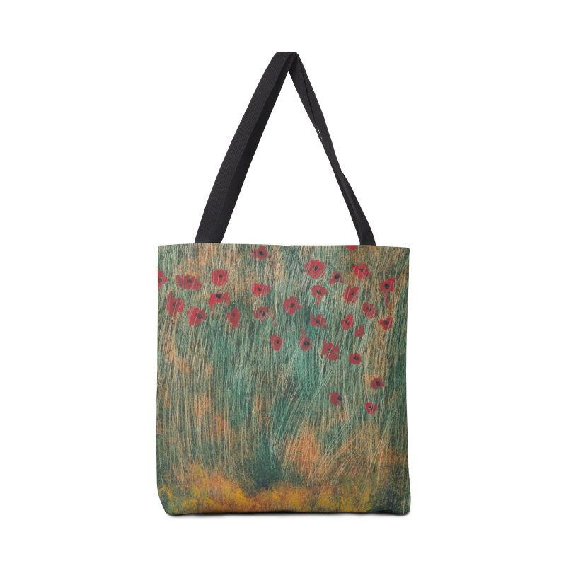 Poppies in a Field on High Grass Accessories Bag by duocuspdesign Artist Shop