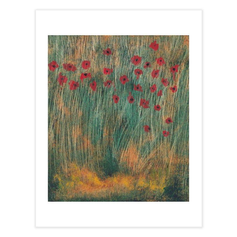 Poppies in a Field on High Grass Home Fine Art Print by duocuspdesign Artist Shop