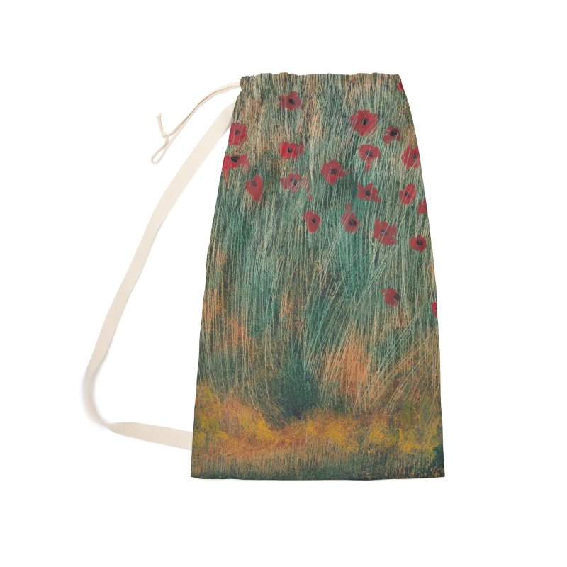 Poppies in a Field on High Grass Accessories Laundry Bag Bag by duocuspdesign Artist Shop