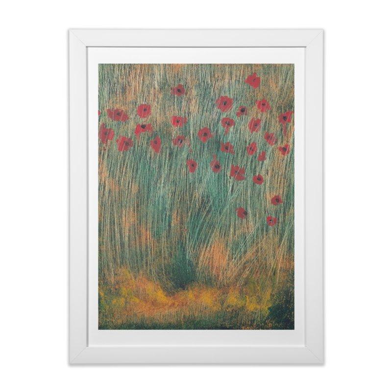 Poppies in a Field on High Grass Home Framed Fine Art Print by duocuspdesign Artist Shop