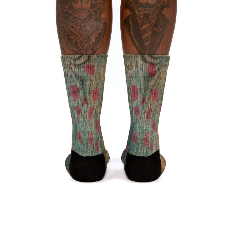 Poppies in a Field on High Grass Women's Socks by duocuspdesign Artist Shop
