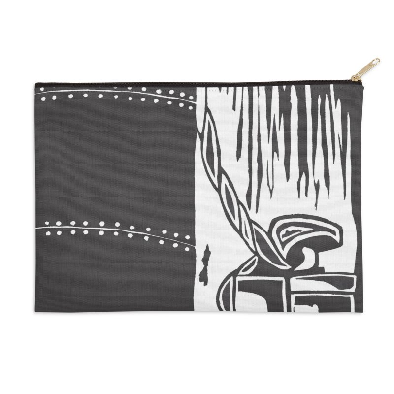 Tied Up/Nautical Woodcut Accessories Zip Pouch by duocuspdesign Artist Shop