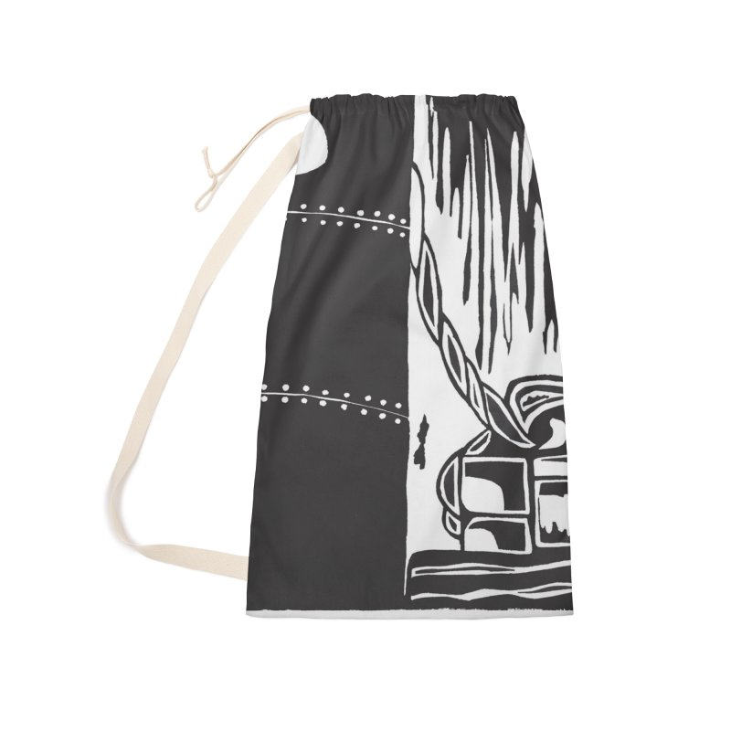 Tied Up/Nautical Woodcut Accessories Bag by duocuspdesign Artist Shop
