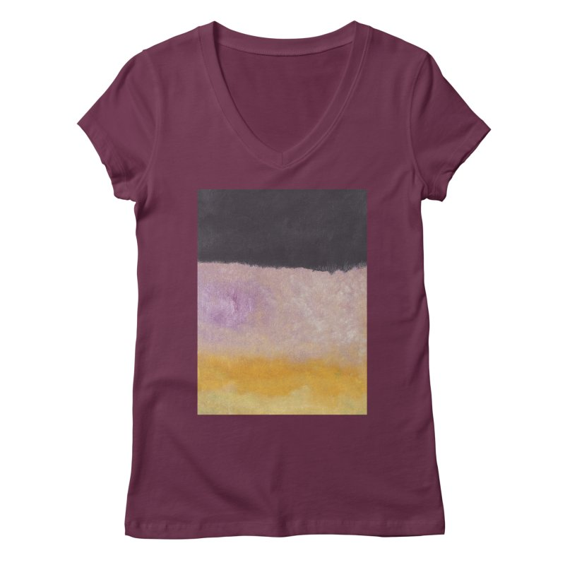 Landscape #8 Women's V-Neck by duocuspdesign Artist Shop