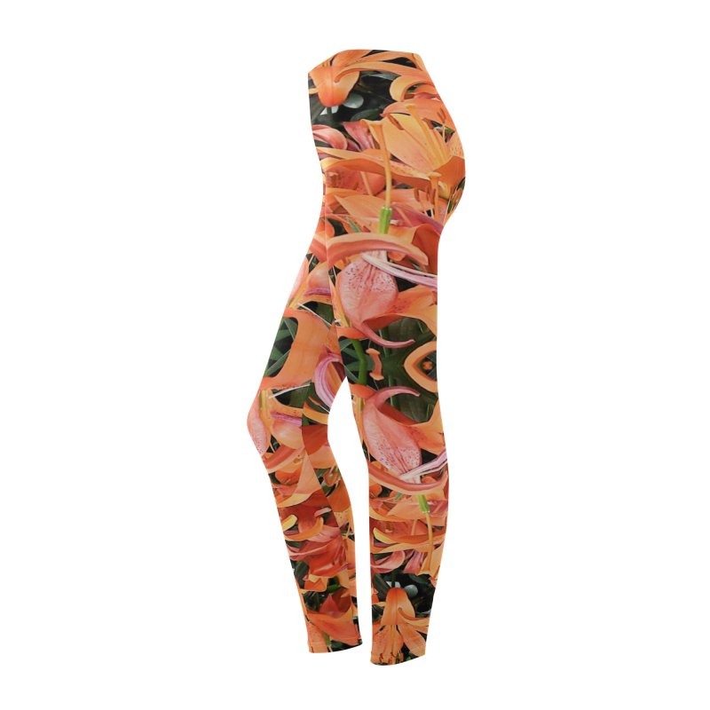 Orange Lilies Women's Bottoms by duocuspdesign Artist Shop
