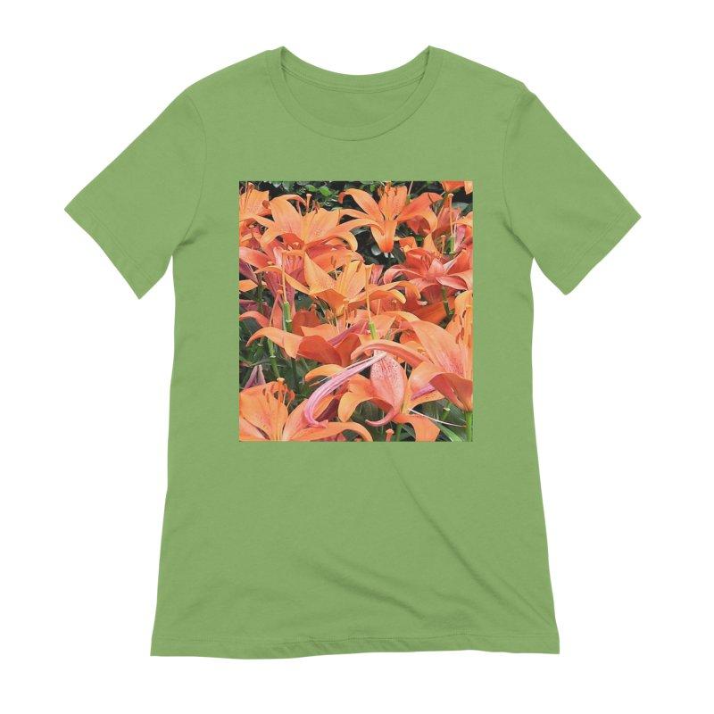 Orange Lilies Women's Extra Soft T-Shirt by duocuspdesign Artist Shop