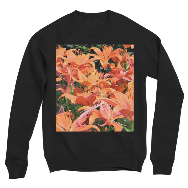 Orange Lilies Women's Sponge Fleece Sweatshirt by duocuspdesign Artist Shop