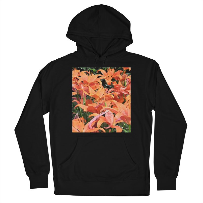 Orange Lilies Women's French Terry Pullover Hoody by duocuspdesign Artist Shop