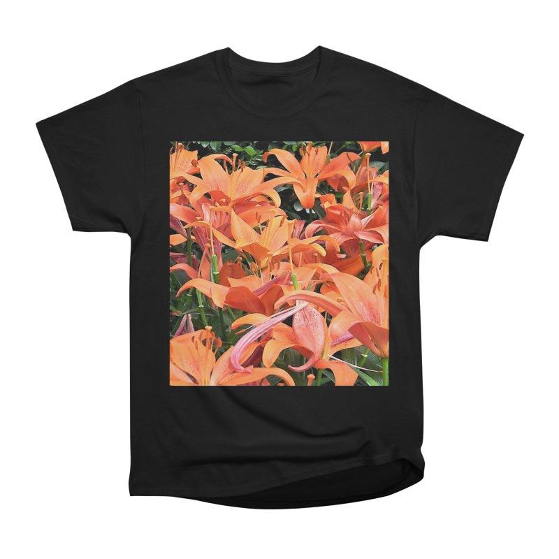 Orange Lilies Women's Heavyweight Unisex T-Shirt by duocuspdesign Artist Shop