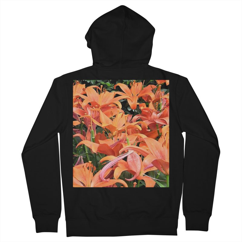 Orange Lilies Women's French Terry Zip-Up Hoody by duocuspdesign Artist Shop
