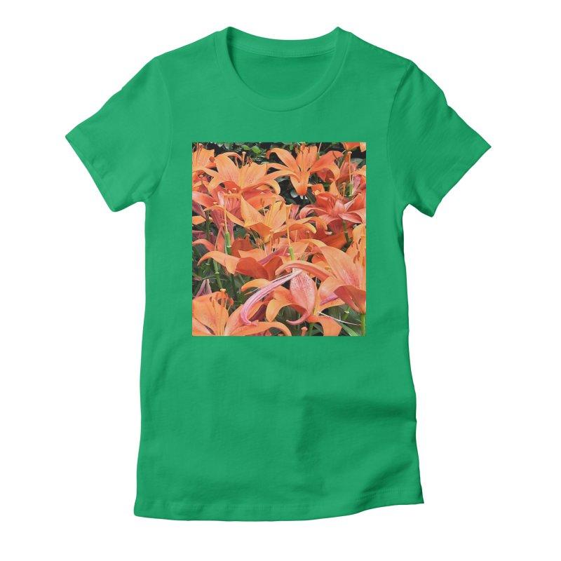 Orange Lilies Women's T-Shirt by duocuspdesign Artist Shop