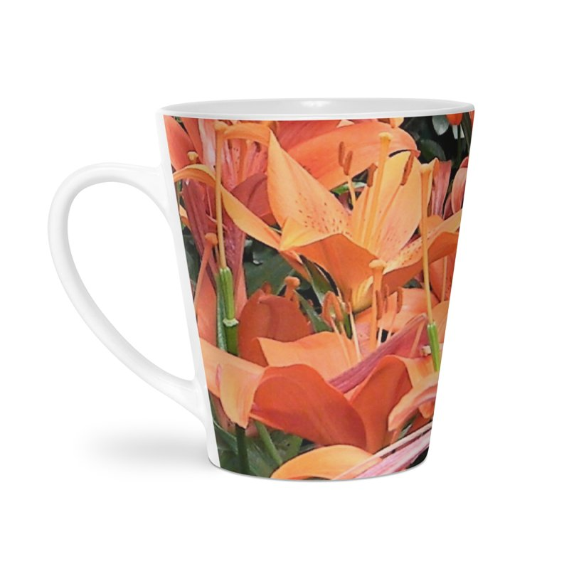 Orange Lilies Accessories Latte Mug by duocuspdesign Artist Shop