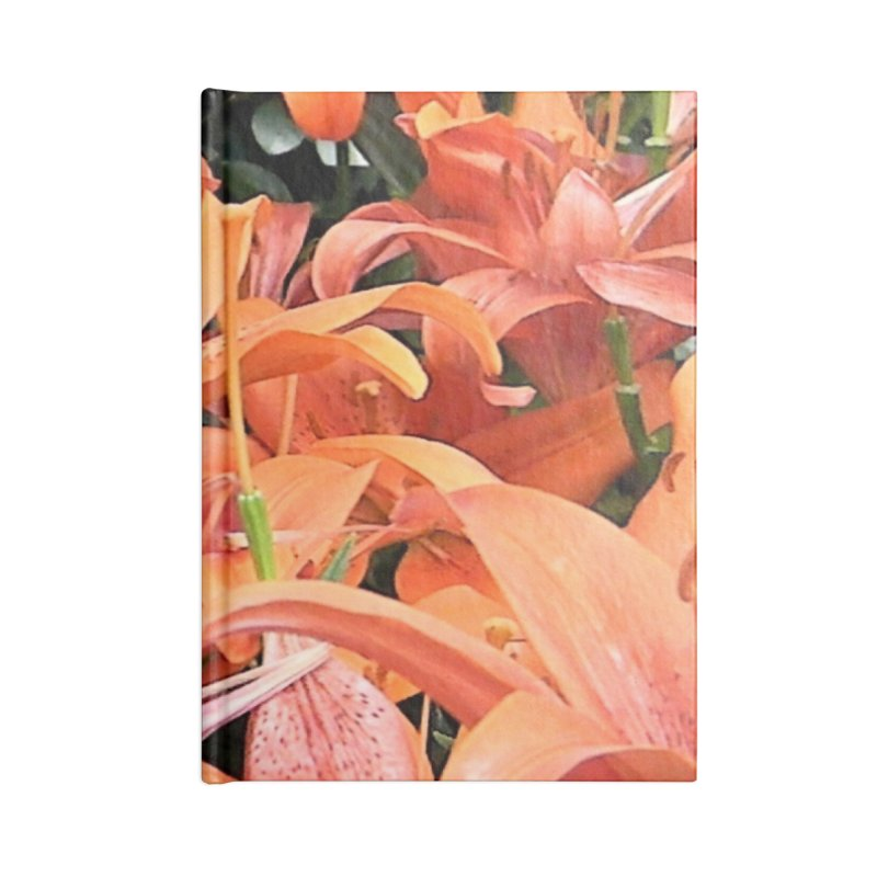 Orange Lilies Accessories Lined Journal Notebook by duocuspdesign Artist Shop