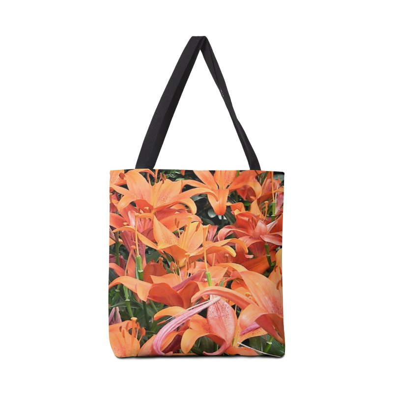 Orange Lilies Accessories Bag by duocuspdesign Artist Shop