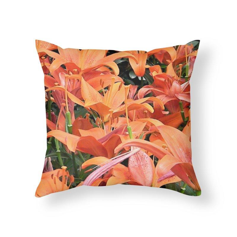 Orange Lilies Home Throw Pillow by duocuspdesign Artist Shop